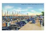 Tarpon Springs  Florida - Sponge Fleet in Harbor