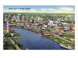 Tampa  Florida - Aerial View of the City