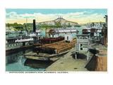Sacramento  California - Sacramento River Shipping Scene