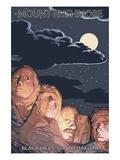Black Hills  South Dakota - Rushmore at Night
