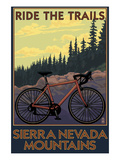 Sierra Nevada Mountains  California - Bicycle on Trails