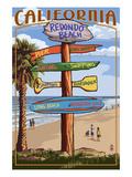 Redondo Beach  California - Destination Sign
