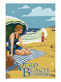 Woman and Beach Scene - Vero Beach  Florida