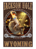 Cowgirl and Mechanical Bull - Jackson Hole  WY