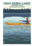 High Sierra Lakes - Sonora Pass  Tuolumne County  California - Kayak Scene