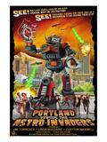 Portland  Oregon vs The Astro-Invaders