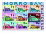 Morro Bay  California - Woody Pop Art