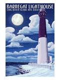Barnegat Lighthouse - Snow Scene - New Jersey Shore