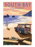 South Bay  California - Woody on Beach