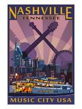 Nashville  Tennessee - Skyline at Night