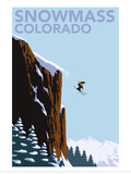 Snowmass  Colorado - Skier Jumping