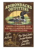 The Adirondacks  New York State - Outfitters Loon