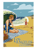 Los Angeles  California - Woman on the Beach