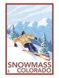 Snowmass  Colorado - Downhill Skier
