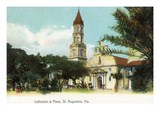 St Augustine  Florida - View of the Cathedral from the Plaza
