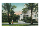 Palm Beach  Florida - Royal Poinciana Entrance and Grounds View