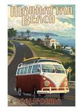 Manhattan Beach  California - VW Van Cruise