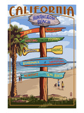 Huntington Beach  California - Destination Sign
