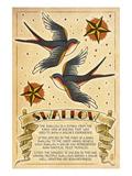 Tattoo Flash Sheet - Swallow