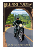Motorcycle and Tunnel - Blue Ridge Parkway