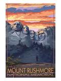 Mount Rushmore National Memorial  South Dakota - Sunset View