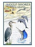 Gulf Shores  Alabama - Nautical Chart