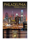 Philadelphia  Pennsylvania - Skyline at Night