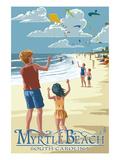 Kite Flyers - Myrtle Beach  South Carolina