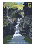 Watkins Glen State Park  New York - Rainbow Falls