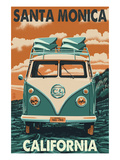 Santa Monica  California - VW Van