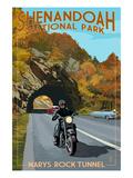 Shenandoah National Park  Virginia - Marys Rock Tunnel Motorcycle