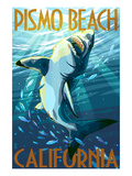 Pismo Beach  California - Stylized Sharks