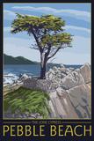 Pebble Beach  California - Lone Cypress Tree
