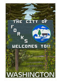 Forks  Washington - Town Welcome Sign