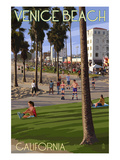 Venice Beach  California - Boardwalk Scene