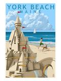 York Beach  Maine - Sand Castle