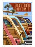 Laguna Beach  California - Woodies Lined Up