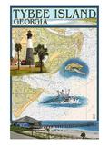 Tybee Island  Georgia - Nautical Chart
