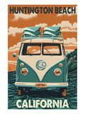Huntington Beach  California - VW Van