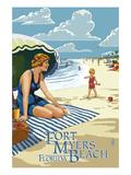 Beach Scene - Fort Myers Beach  Florida