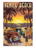 Venice Beach  California - Woodies and Sunset