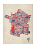 Typography Text Map of France Map