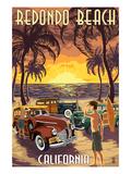 Redondo Beach  California - Woodies and Sunset