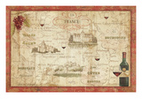 Wine Map Reproduction d'art par Daphne Brissonnet