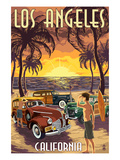 Los Angeles  California - Woodies and Sunset
