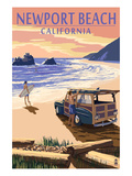 Newport Beach  California - Woody on Beach