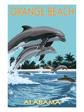 Orange Beach  Alabama - Dolphins Jumping
