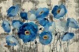Aquamarine Floral Reproduction d'art par Silvia Vassileva