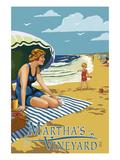Martha's Vineyard - Woman on Beach