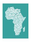 Map of Africa Map  Text Art
